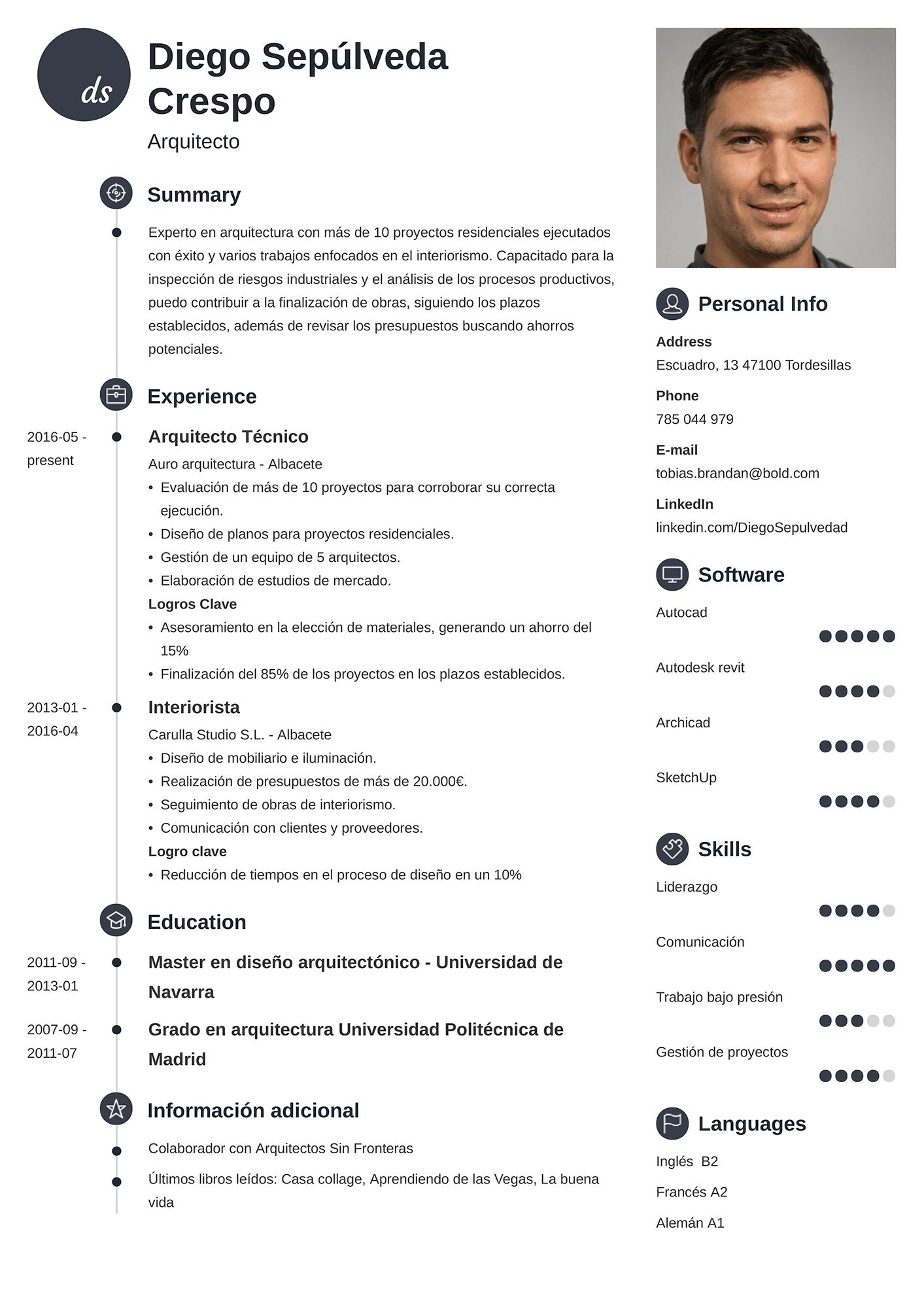 Currículum de Arquitecto