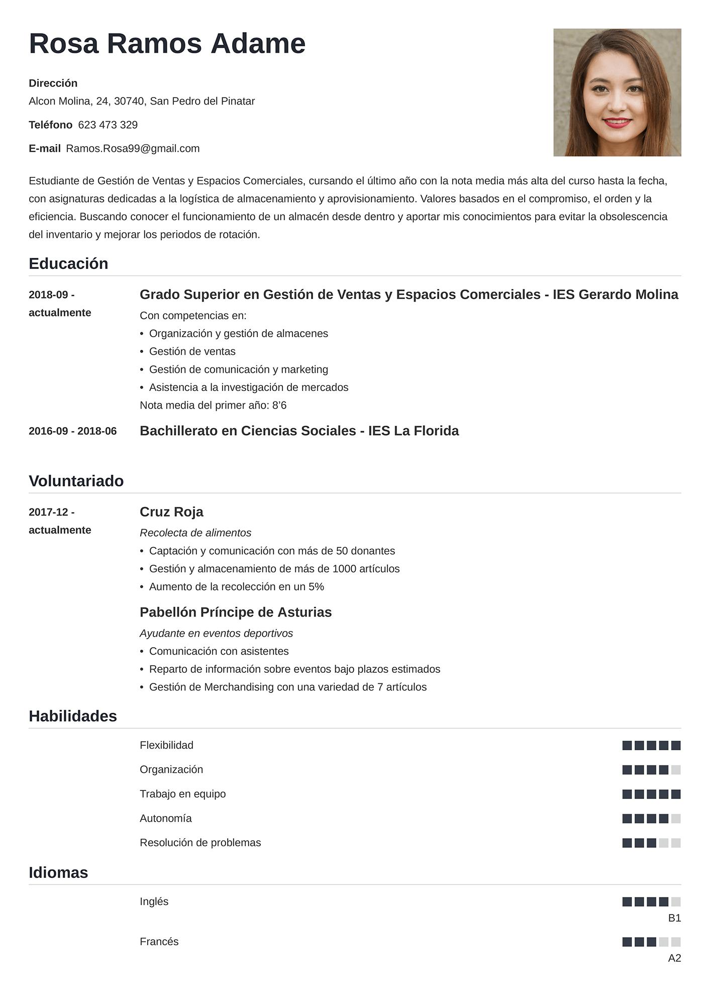 Currículum sin Experiencia
