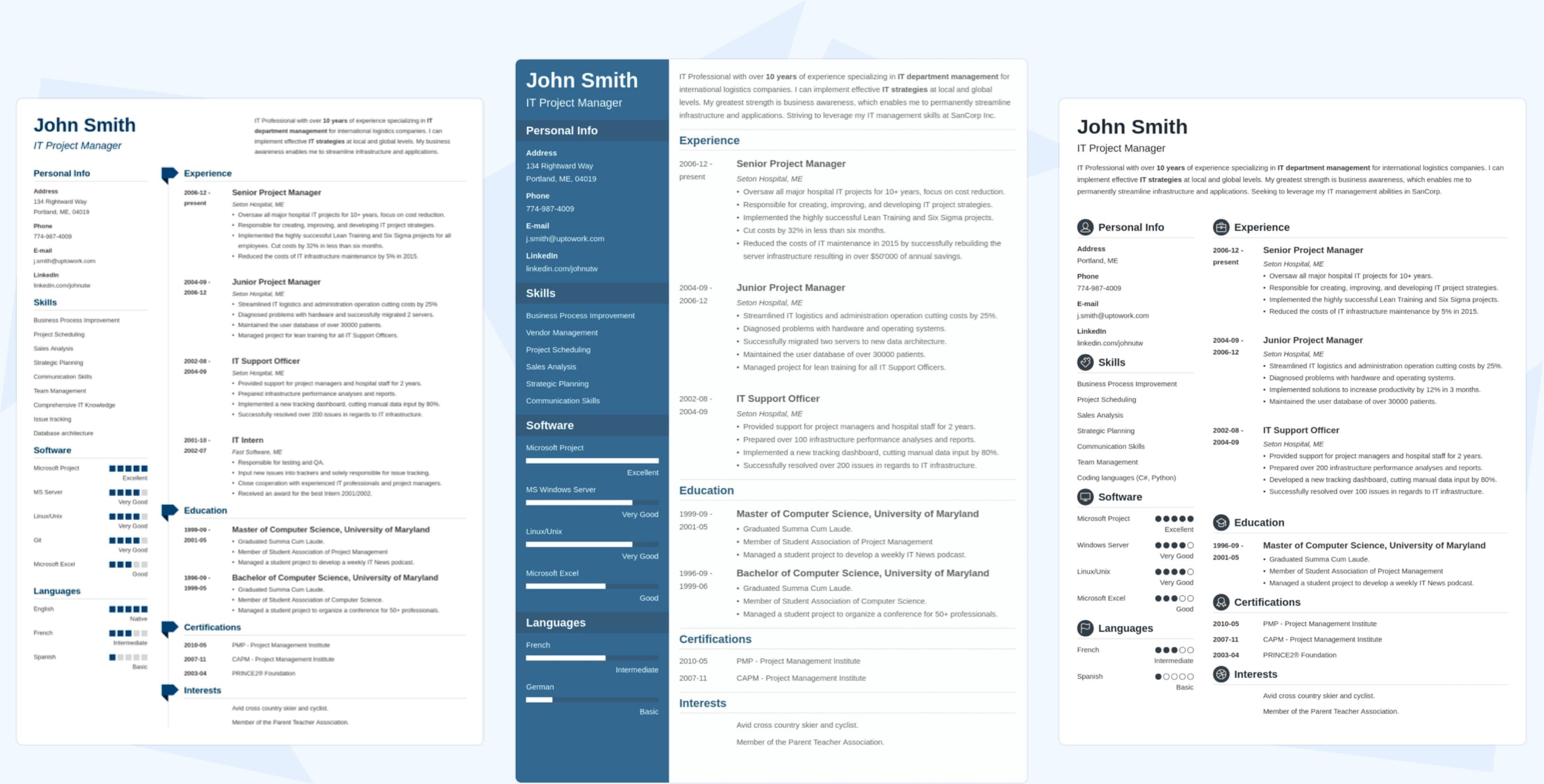 Curriculum online de Zety