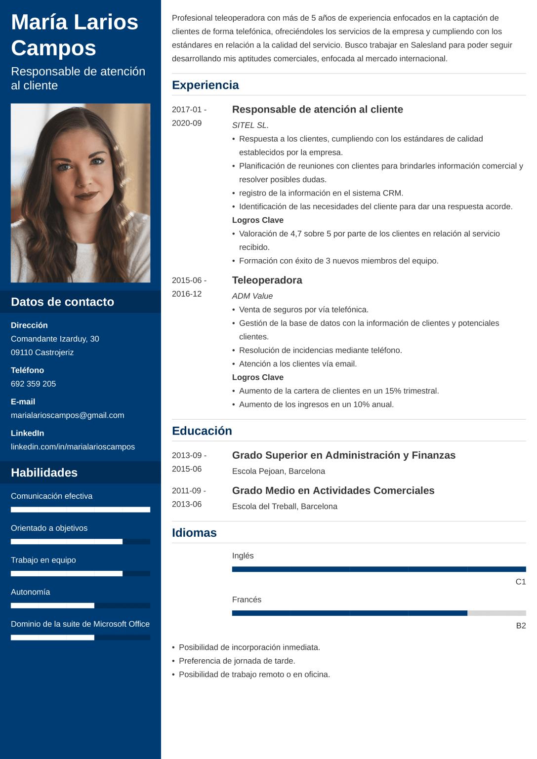 Plantilla de CV
