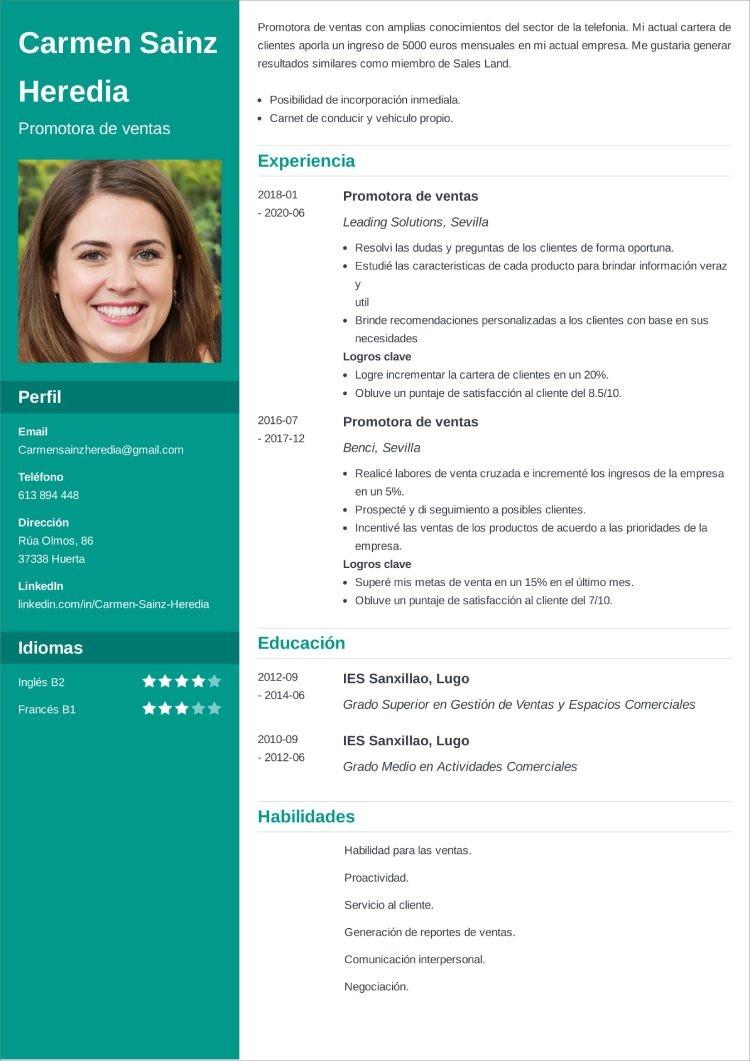 mejor color curriculum verde