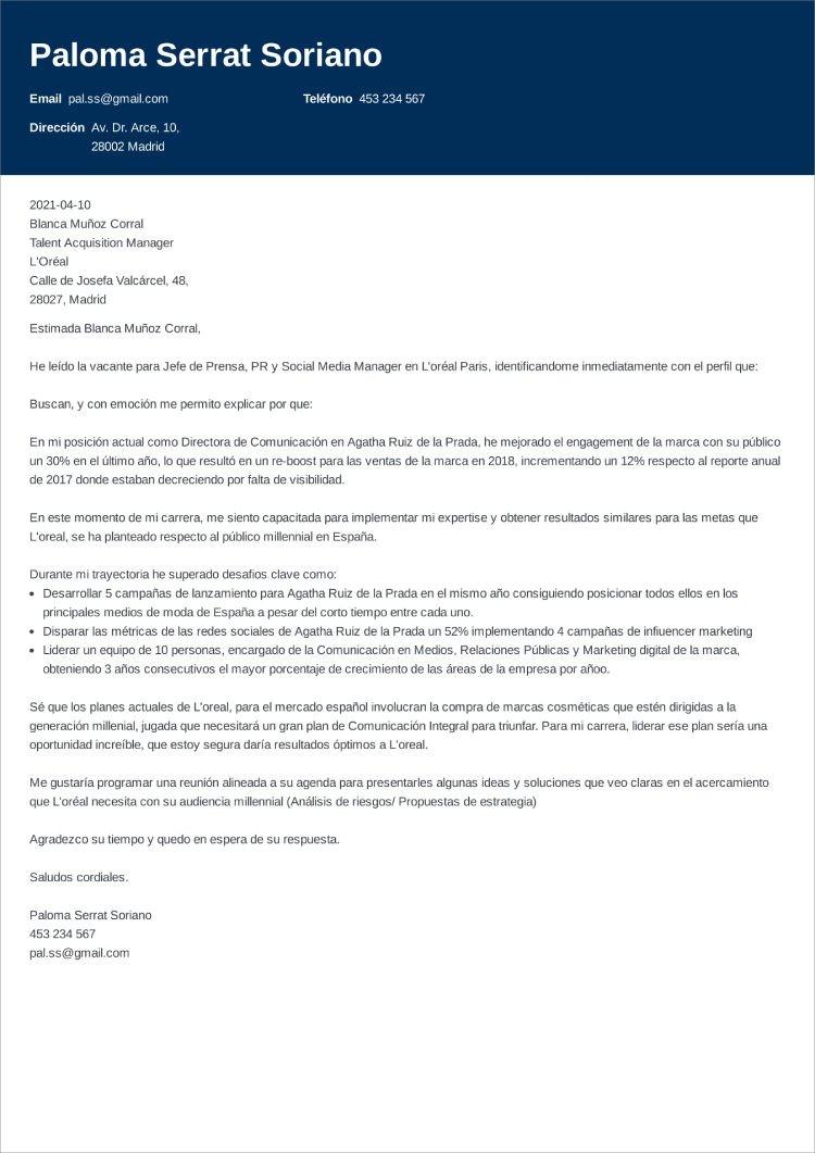carta presentacion general influx