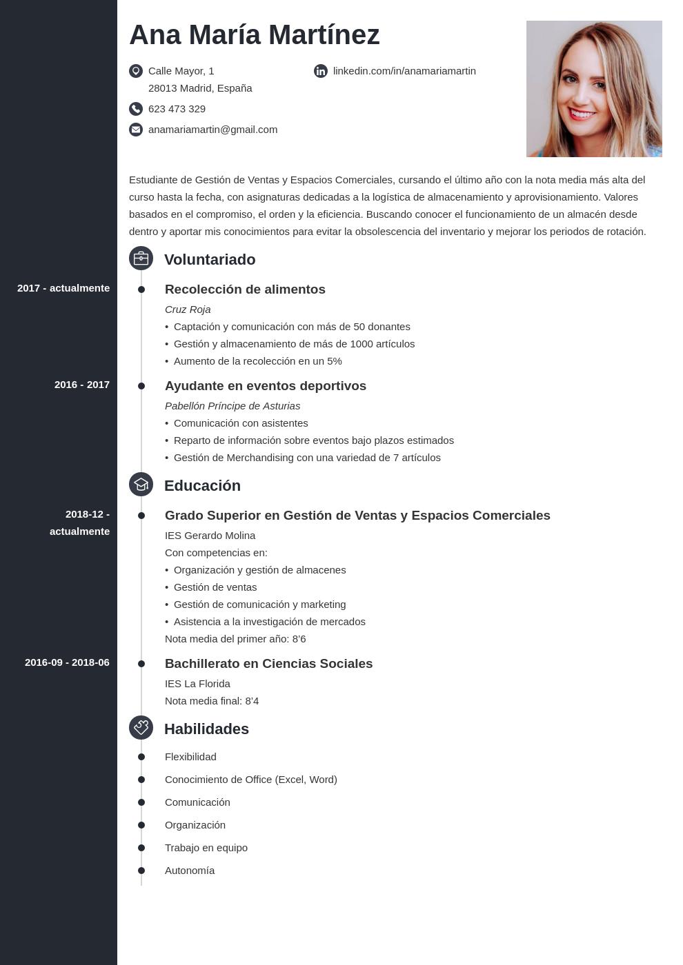 Curriculum Vitae Sin Experiencia Ejemplos Guía Plantillas