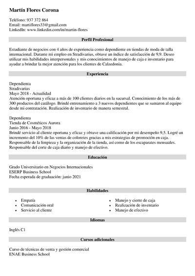 calzedonia curriculum