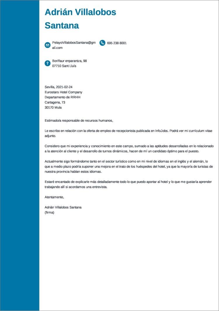 carta presentacion corta