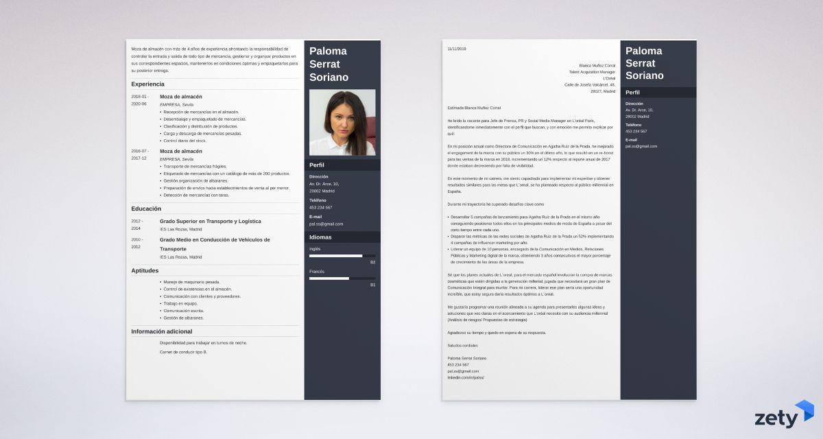plantilla carta de presentacion
