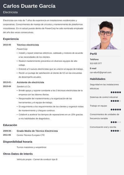 curriculum electricista