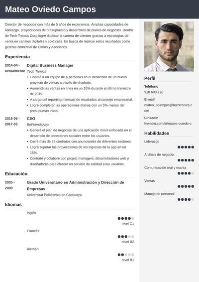 curriculum emprendedor