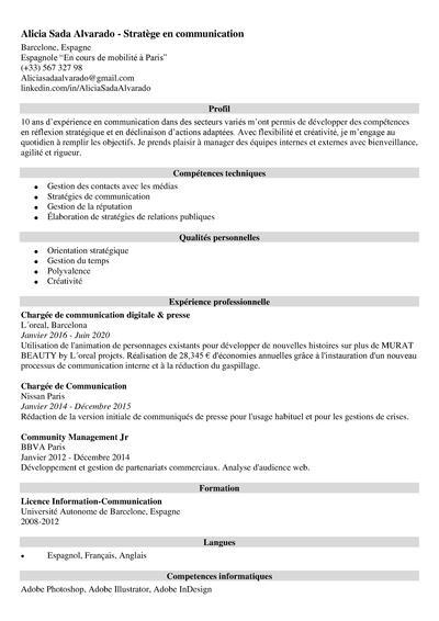 curriculum frances
