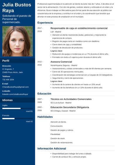 curriculum mercadona empleo