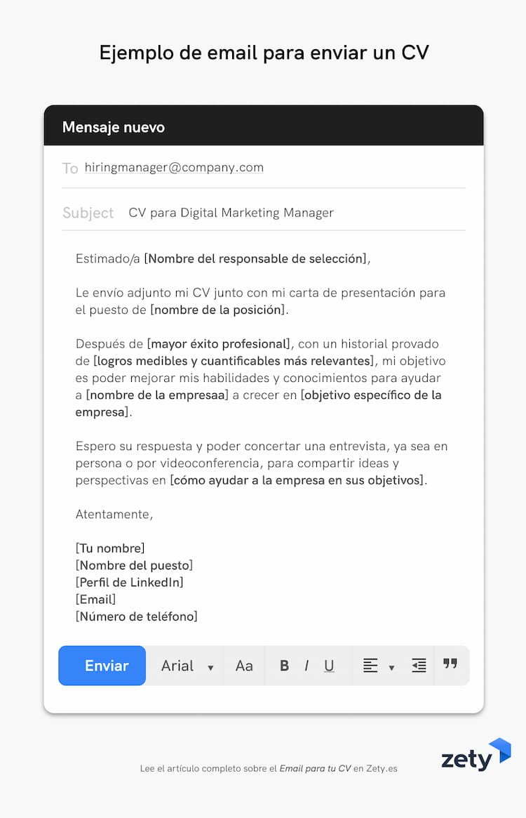 cv email