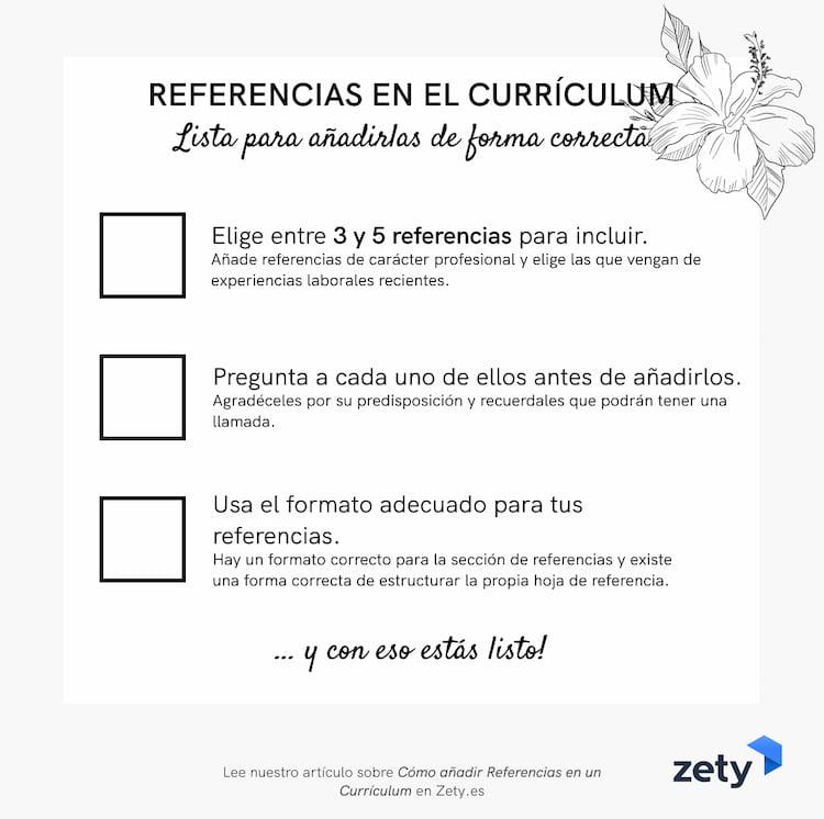 referencias curriculum