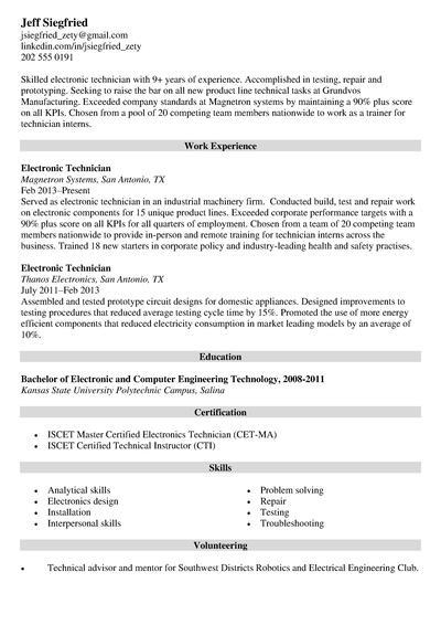resume job description